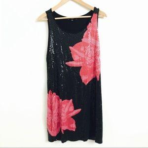 Express Black Sparkling Party Dress